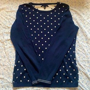 2/$35 Tommy Hilfiger Blue and White Sweater